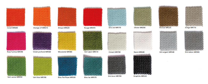 Les coloris des produits d'isolation acoustique Texaa
