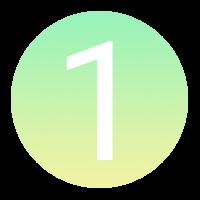 Icône à puce numérotée : 1