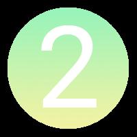 Icône à puce numérotée : 2