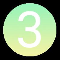 Icône à puce numérotée : 3