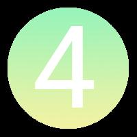 Icône à puce numérotée : 4